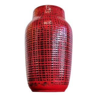 Large Red and Black Ilkra Edel Keramik Bouquet Vase Nr. 347/30 For Sale
