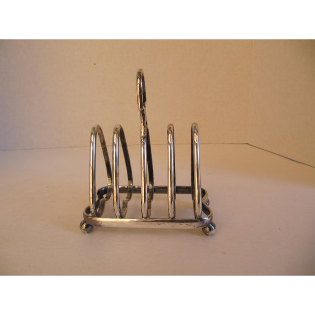 """Antique English silver-plate toast rack marked """"The Peoples Refreshment House Association."""" The People's Refreshment House..."""