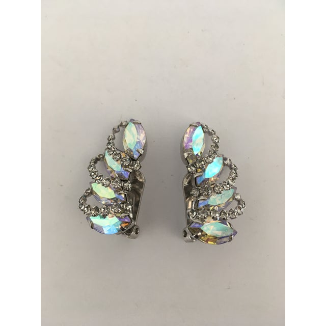 Vintage Weiss Rhinestone Clips - a Pair For Sale - Image 11 of 11