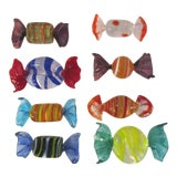 Image of Mid Century Murano Glass Candies - Set of 8 For Sale