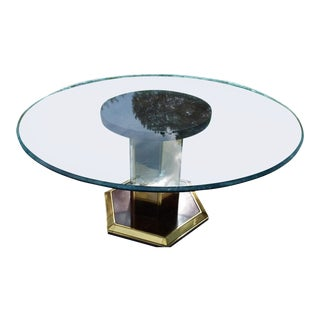 Knoll Style Asian Glass Dining Table
