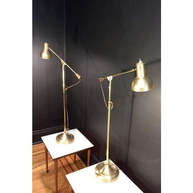 Industrial Industrial Style Brass Lamps - a Pair For Sale - Image 3 of 7