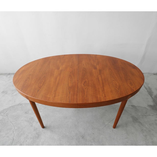 Brown Mid Century Danish Teak Oval Dining Table by Harry Ostergaard for A/S Randers For Sale - Image 8 of 11