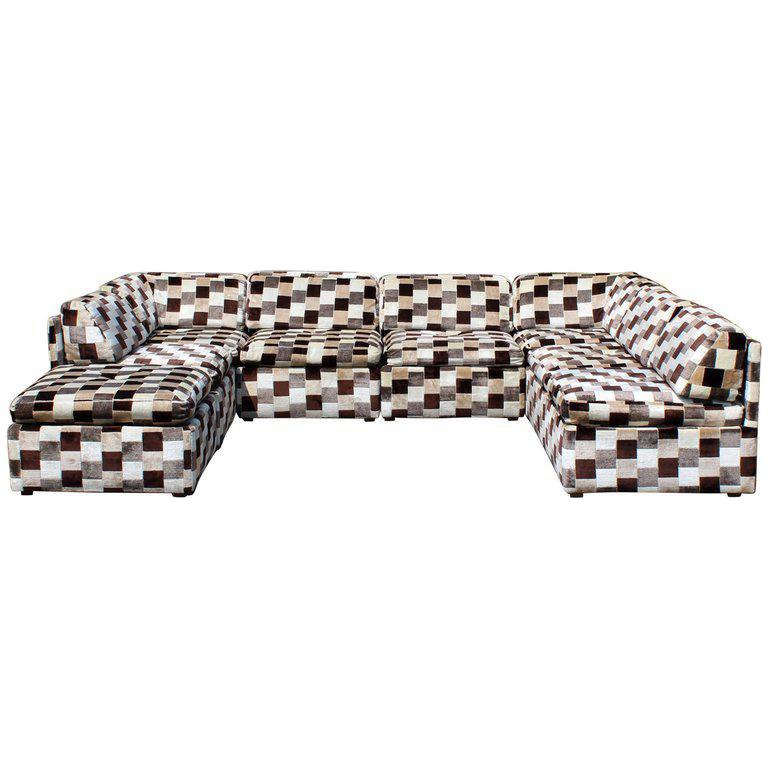 1970s Mid Century Modern Modular Sectional Sofa Chairish