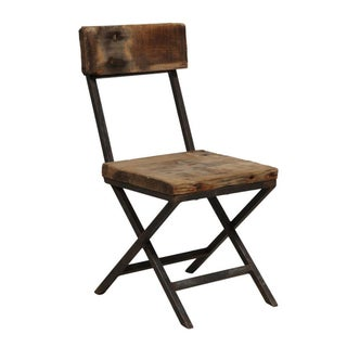 Reclaimed Wood & Iron Chair