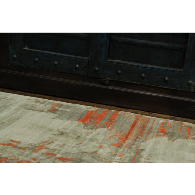 Contemporary Abstract Orange Rug - 2'8'' x 10' - Image 5 of 5