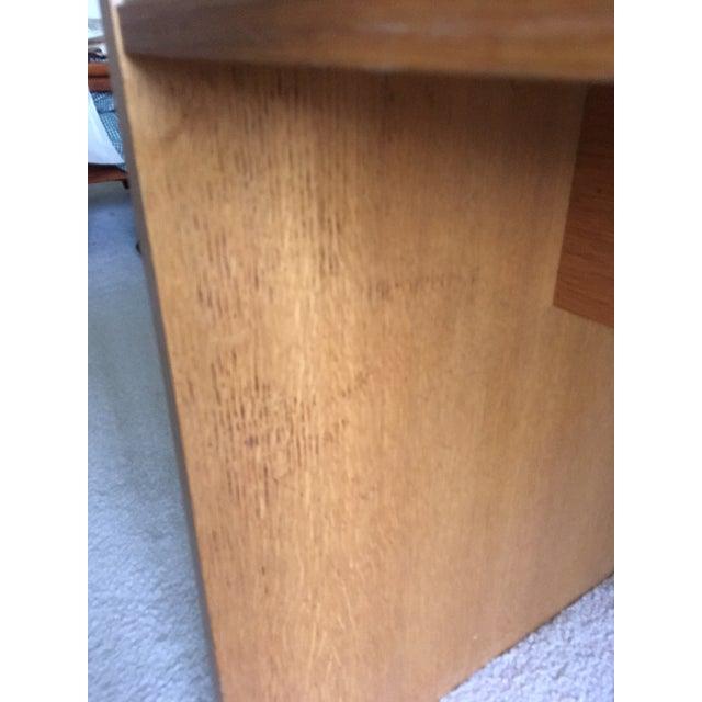 Danish Modern Mid-Century Teak & White Two-Drawer Desk For Sale - Image 11 of 13