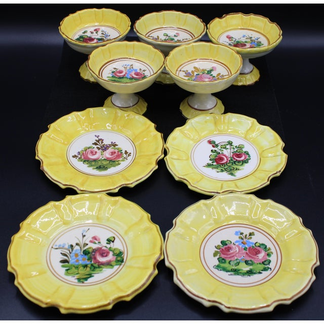 Italian 1940s Italian Dessert Plates and Compotes For Sale - Image 3 of 10