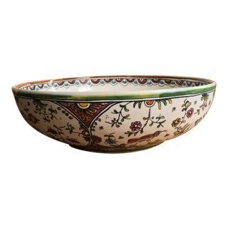 Hand-Painted Large Serving Bowl For Sale