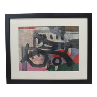 Kumi Sugai Abstract Brush Painting 1960s For Sale