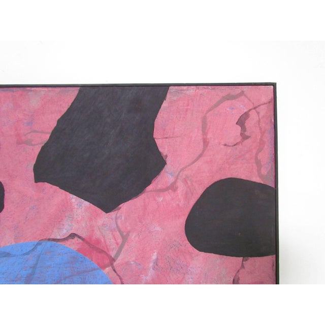 Abstract Modernist Painting by French Artist Jeanick Bouys For Sale In Boston - Image 6 of 10