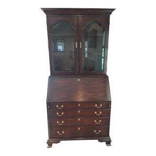 Traditional Henkel Harris Mahogany Secretary Desk For Sale