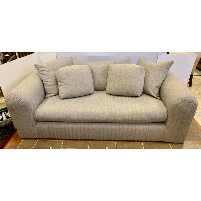 Donghia by John Hutton Gray Sofa For Sale - Image 13 of 13