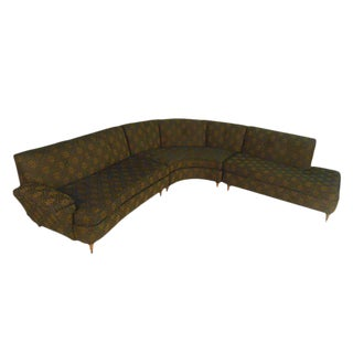 Mid-Century Modern Three Piece Sectional Sofa For Sale