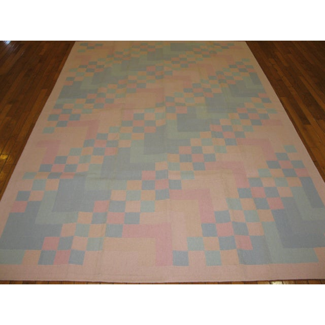 Reversible Indian Dhurry Rug - 6'1'' X 9'2'' - Image 2 of 5