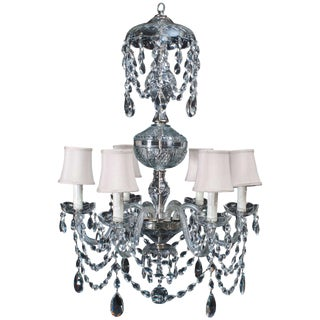 Neoclassical Style Crystal Chandelier For Sale