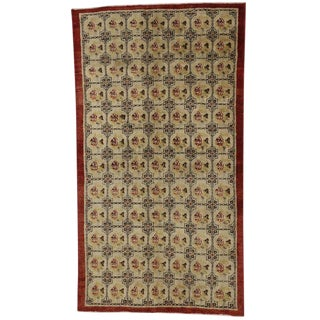 Vintage Turkish Oushak Accent Entry / Foyer Rug - 3′8″ × 6′7″ For Sale