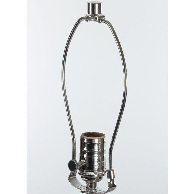 Ceramic Orange Crackle Gabriel Table Lamp For Sale - Image 7 of 8