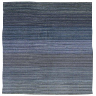 Contemporary Modern Flat-Weave Rug, Ombre Kilim