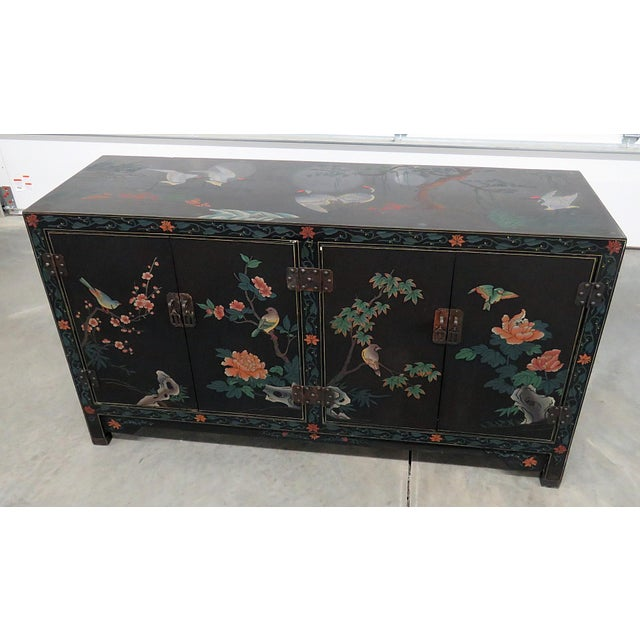 Asian Paint Decorated Cabinet For Sale - Image 11 of 11