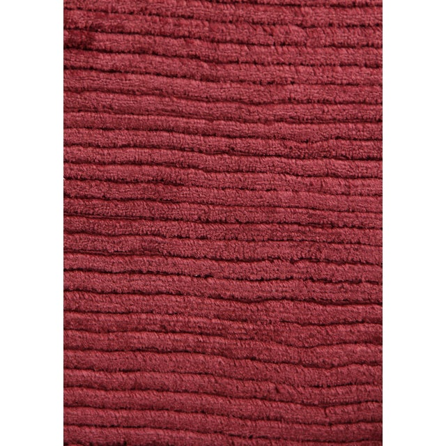 Transitional Exquisite Rugs Ives Hand loom Viscose Red/Multi Rug-15'x20' For Sale - Image 3 of 10