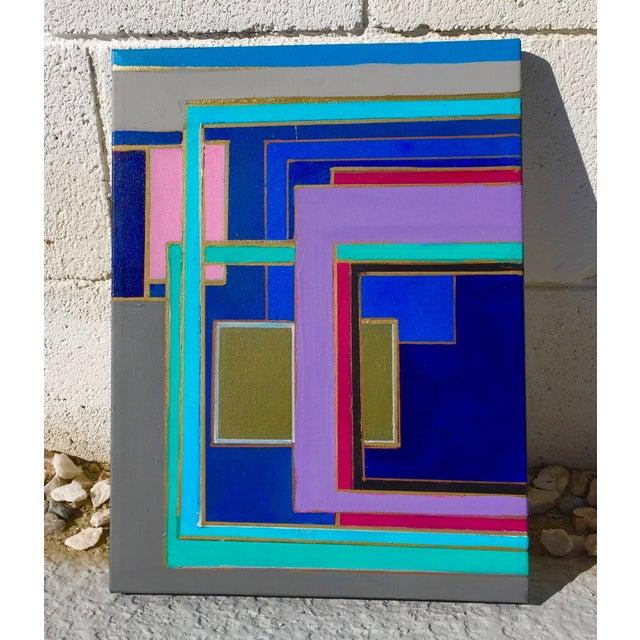 Bryan Boomershine 'Modern Block Series' Painting - Image 2 of 4