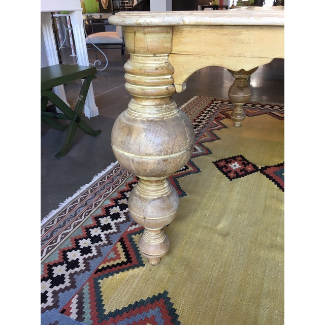 """Mediterranean Antique Egyptian """"Boule"""" Dining Table For Sale - Image 3 of 4"""