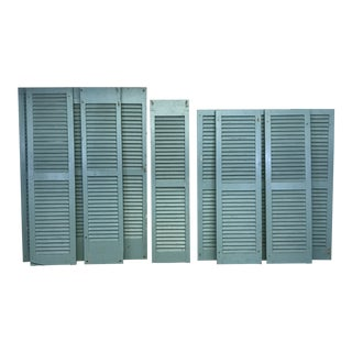 Antique Painted Wood Shutters For Sale