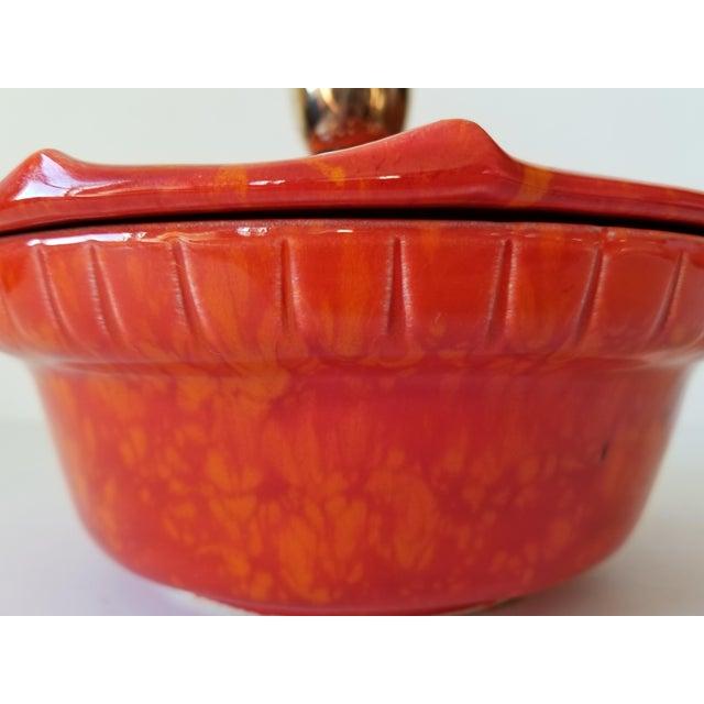 Mid-Century Modern Mid-Century Modern California Pottery Casserole Dish For Sale - Image 3 of 12