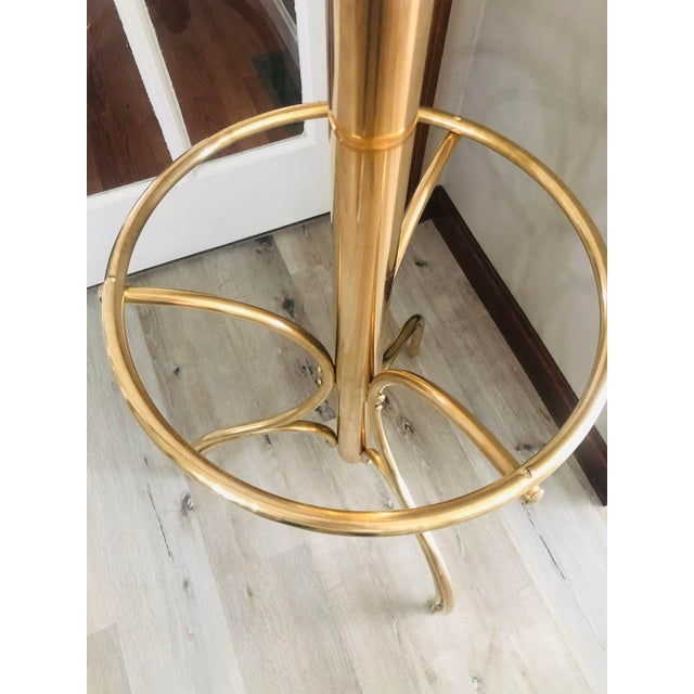 20th Century Hollywood Regency Brass Coat Rack/Hall Tree For Sale - Image 4 of 6