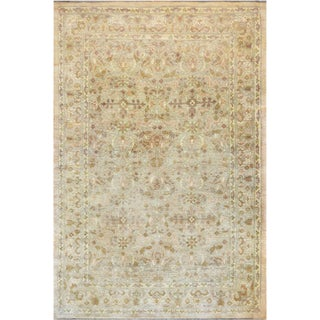 "Mansour Quality Handwoven Agra Rug - 6'4"" X 9'1"" For Sale"