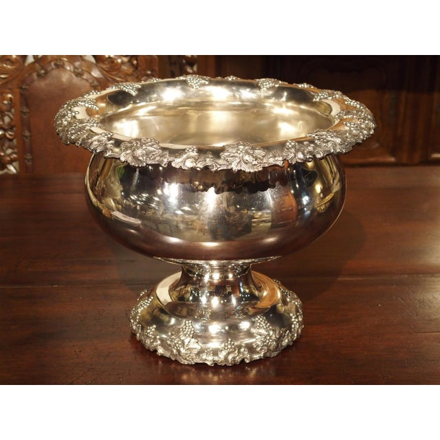 A Circa 1900 Silver Plated Punch Bowl and Tray For Sale - Image 11 of 11