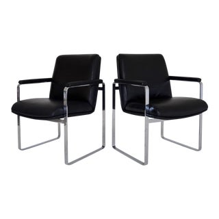 Mid-Century Modern Chrome Chairs - A Pair For Sale