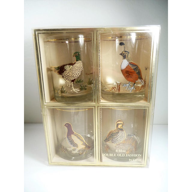 Vintage Mid Century Culver Assorted Game Bird Bar Glasses - Set of 4 - Image 4 of 9
