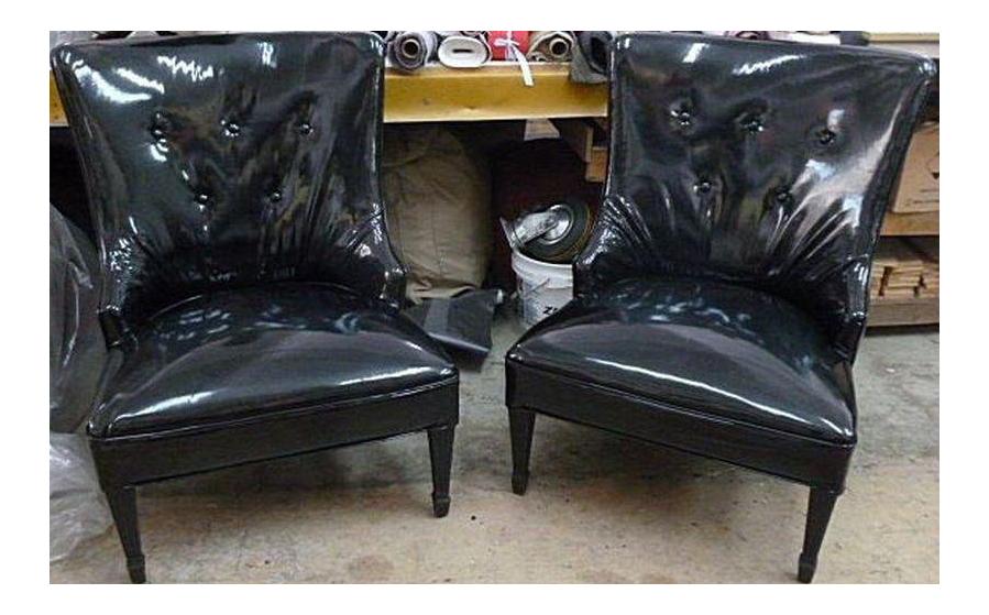 1940u0027s Vintage Grosfeld House Dorothy Draper Style Hollywood Regency  Slipper Chairs  A Pair
