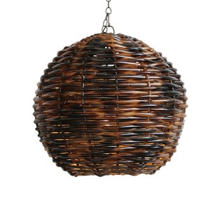 Rattan Globe Lantern Large For Sale