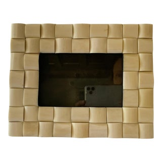 "Vintage Bone ""Woven"" Picture Frame For Sale"