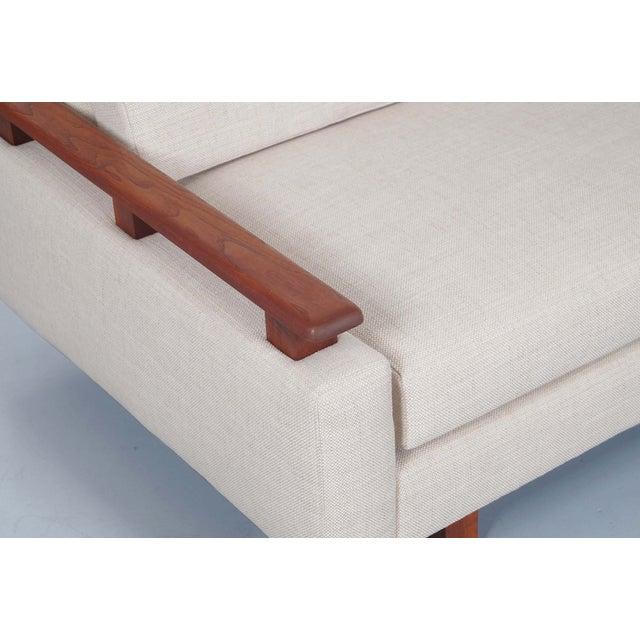 Mid Century Modern Walnut Sofa - Image 4 of 6