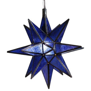 Moravian Blue Star Lantern For Sale