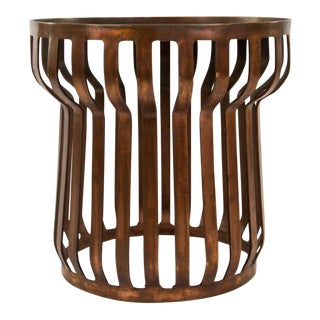 Clairborne Steel Band Drum Side Table