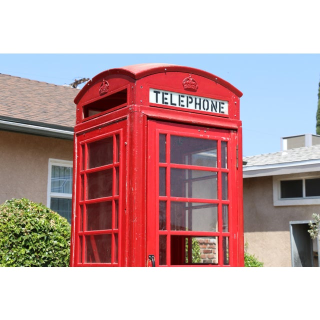 Vintage Metal Outdoor Life Size Telephone Booth in well kept condition. Has a few easy to replace glass. Needs a little...