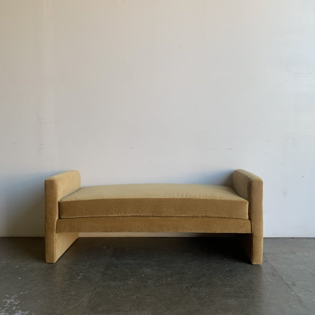 Post Modern Bench- Mustard For Sale - Image 12 of 13