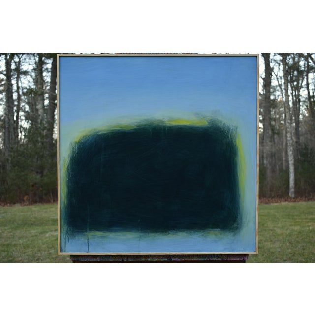 "Stephen Remick Modern ""Touch, Summer Morning"" Abstract Diptych by Stephen Remick For Sale - Image 4 of 13"