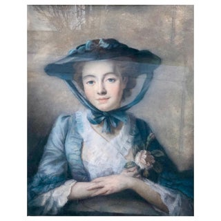 "John Russell 1745-1806 Pastel Portrait of ""Miss Felicity Page"" For Sale"