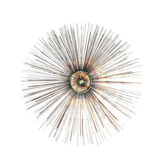 Copper Sunburst Wall Sculpture For Sale