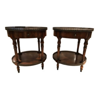 Traditional Sherrill Side Tables - A Pair For Sale