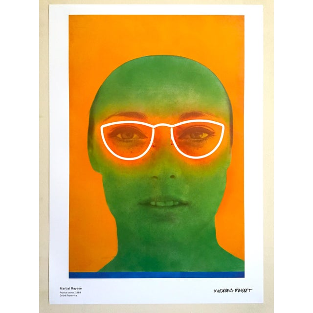"""Various Artists Martial Raysee Moderna Museet Stockholm Lithograph Print Pop Art Poster """" France Verte """" 1964 For Sale - Image 4 of 13"""