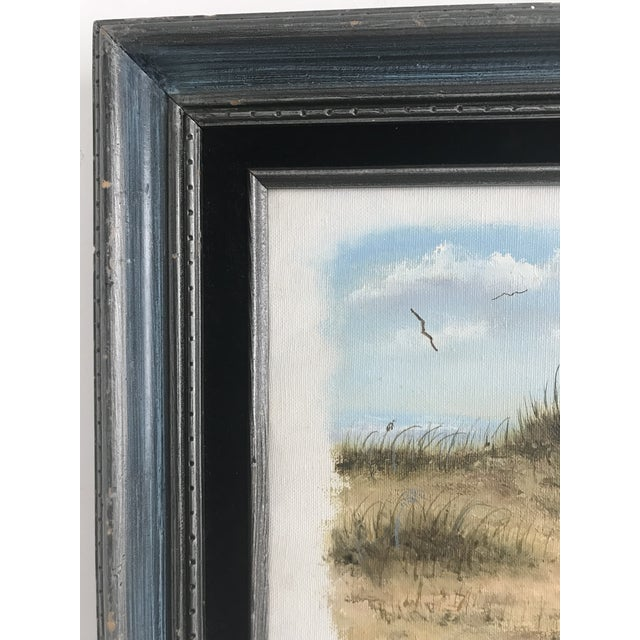 1980s Vintage Dunes on the Cape Oil Painting For Sale - Image 5 of 10