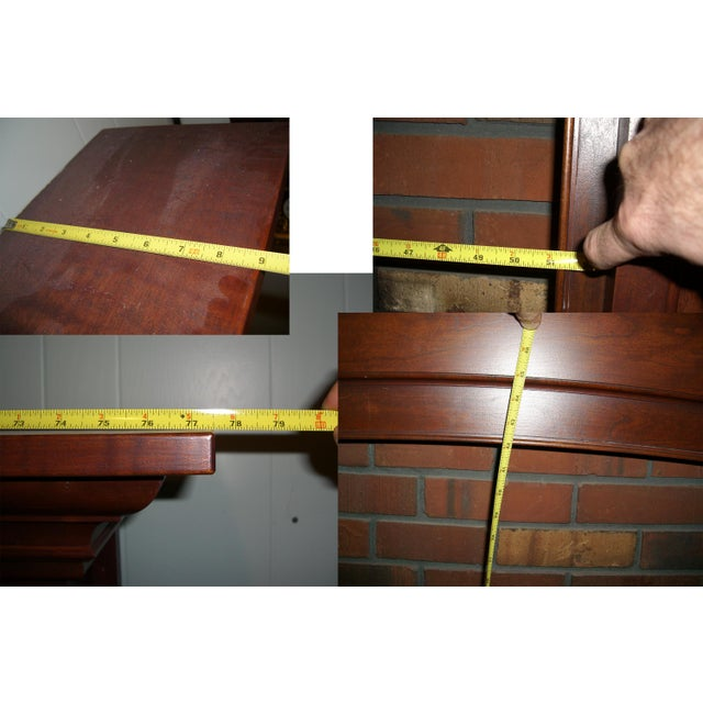 Modern Solid Cherry Fireplace Mantle Arched For Sale - Image 9 of 12