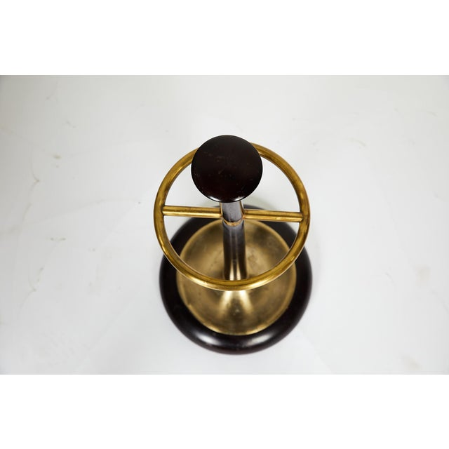 20th Century Brass and Mahogany Umbrella Stand For Sale In Atlanta - Image 6 of 13